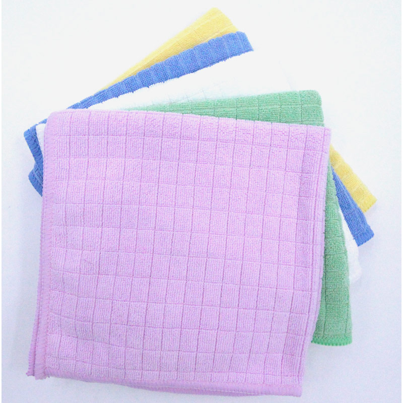 Hand/Face Towel with Weft Knitting