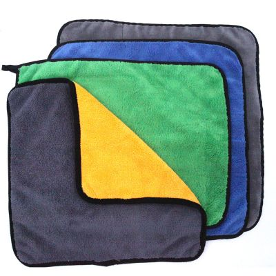 Compound Coral Fleece Microfiber Towel with Different Color and Sizes