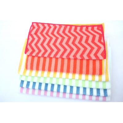 Sport Microfiber Towel with Printed Strip